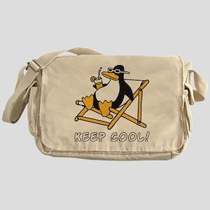 cool penguin Messenger Bag
