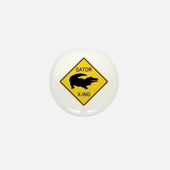 crossing-sign-alligator Mini Button