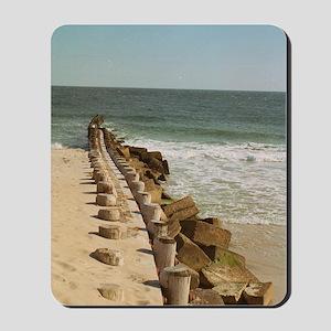 beach warf pier Mousepad