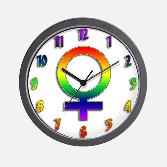 Rainbow Women's Symbol Wall Clock