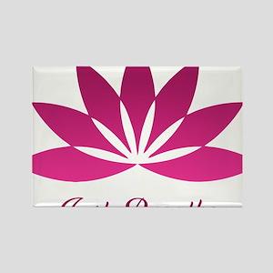 LotusJustBreathe1 Rectangle Magnet