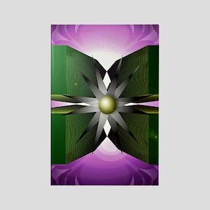 four blocks Rectangle Magnet