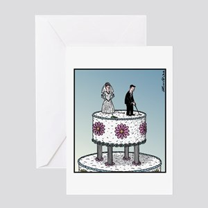 Wedding cake Golf Greeting Cards