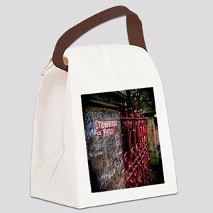 Strawberry Field Canvas Lunch Bag