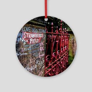 Strawberry Field Round Ornament