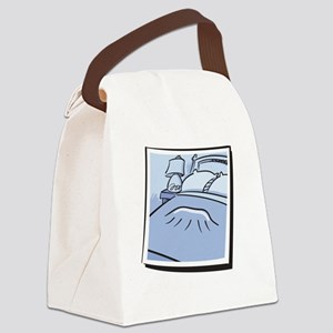 dachs_native_whiteletters Canvas Lunch Bag