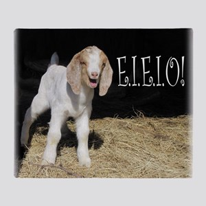 Baby Goat e.i.e.i.o! Throw Blanket