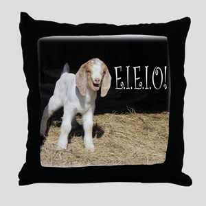 Baby Goat e.i.e.i.o! Throw Pillow