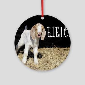 Baby Goat e.i.e.i.o! Round Ornament