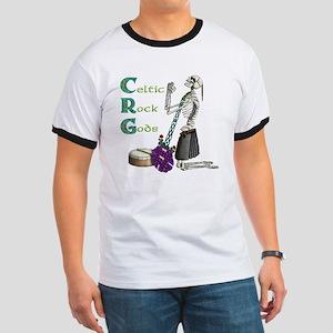 Celtic Skeleton black Ringer T