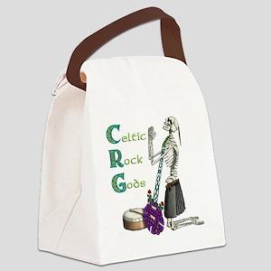 Celtic Skeleton black Canvas Lunch Bag