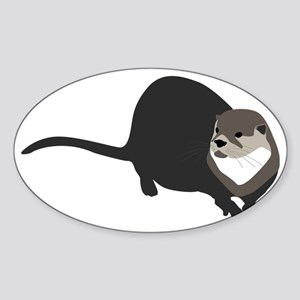 riverotter Sticker (Oval)