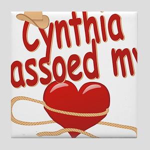 cynthia-g-lassoed Tile Coaster