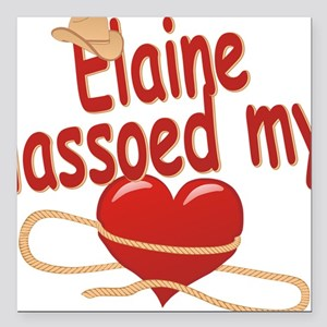 "elaine-g-lassoed Square Car Magnet 3"" x 3"""