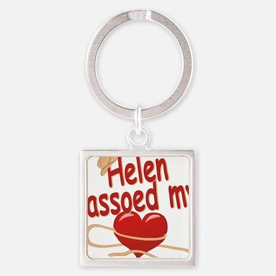 helen-g-lassoed Square Keychain