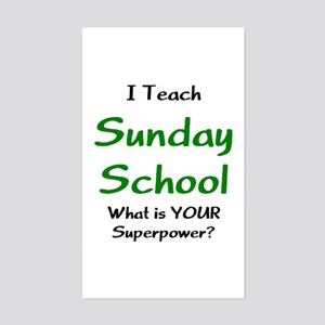 teach sunday school Sticker (Rectangle)