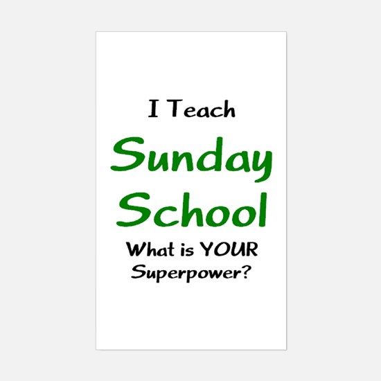 teach sunday school Sticker (Rectangle)