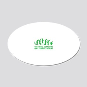 somwhereWrong1D 20x12 Oval Wall Decal