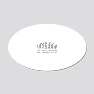 somwhereWrong1C 20x12 Oval Wall Decal