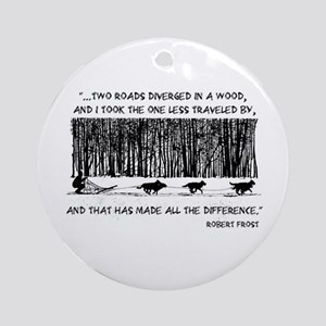 The Road Less Traveled Sled D Ornament (Round)