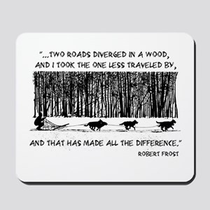 The Road Less Traveled Sled D Mousepad