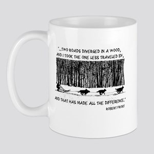 The Road Less Traveled Sled D Mug