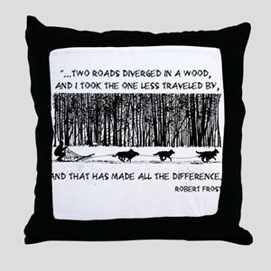 The Road Less Traveled Sled D Throw Pillow
