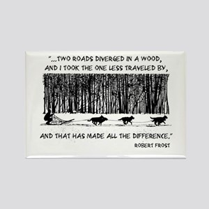 The Road Less Traveled Sled D Rectangle Magnet