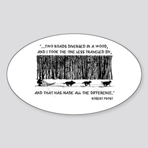 The Road Less Traveled Sled D Oval Sticker