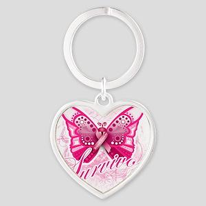 survivor-centered Heart Keychain