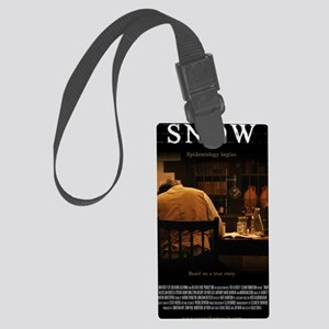 Snow Movie Poster (Large) Large Luggage Tag