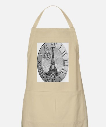 paris wall clock Apron