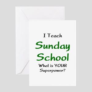 teach sunday school Greeting Card