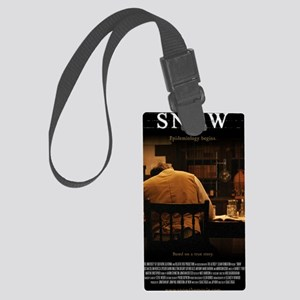 Snow Movie Poster (Small) Large Luggage Tag
