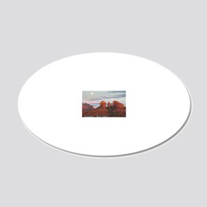 moon rise_text 20x12 Oval Wall Decal