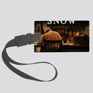 Snow Mouse Pad Large Luggage Tag