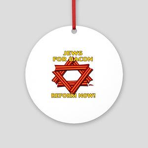 jews-for-bacon-2012-b Round Ornament