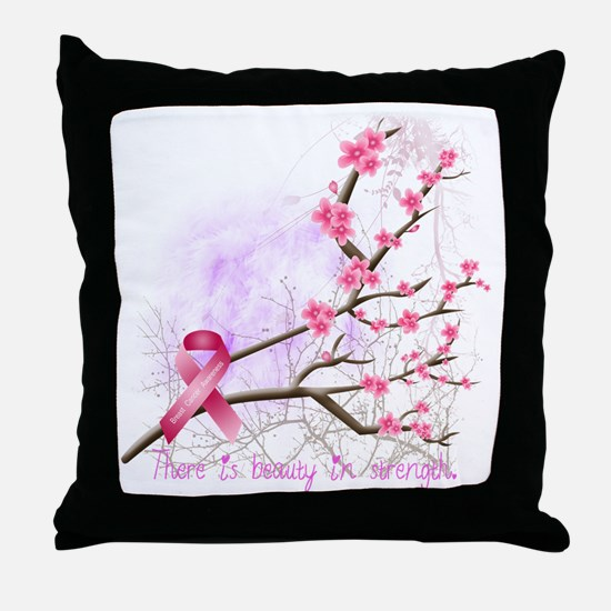 cherryblossom-dark Throw Pillow