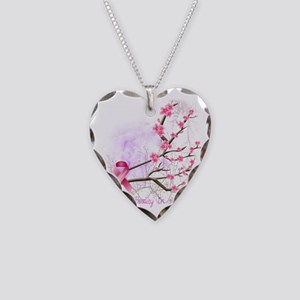 cherryblossom-dark Necklace Heart Charm