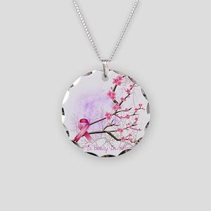 cherryblossom-dark Necklace Circle Charm