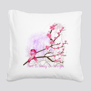cherryblossom-dark Square Canvas Pillow