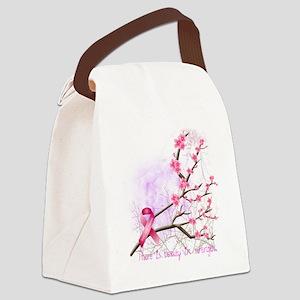 cherryblossom-dark Canvas Lunch Bag