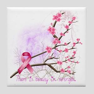 cherryblossom-dark Tile Coaster