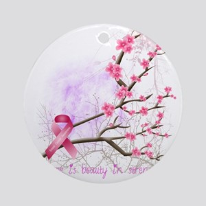 cherryblossom-dark Round Ornament