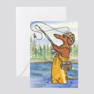 flyfishing8x10 Greeting Card