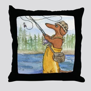 flyfishing8x10 Throw Pillow