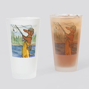 flyfishing8x10 Drinking Glass