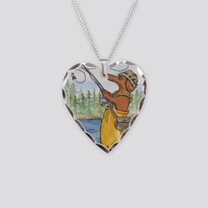 flyfishing8x10 Necklace Heart Charm