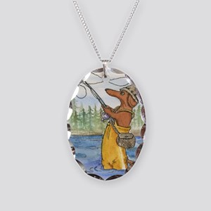 flyfishing8x10 Necklace Oval Charm