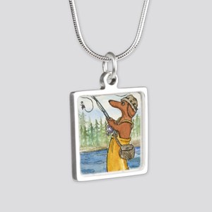 flyfishing8x10 Silver Square Necklace